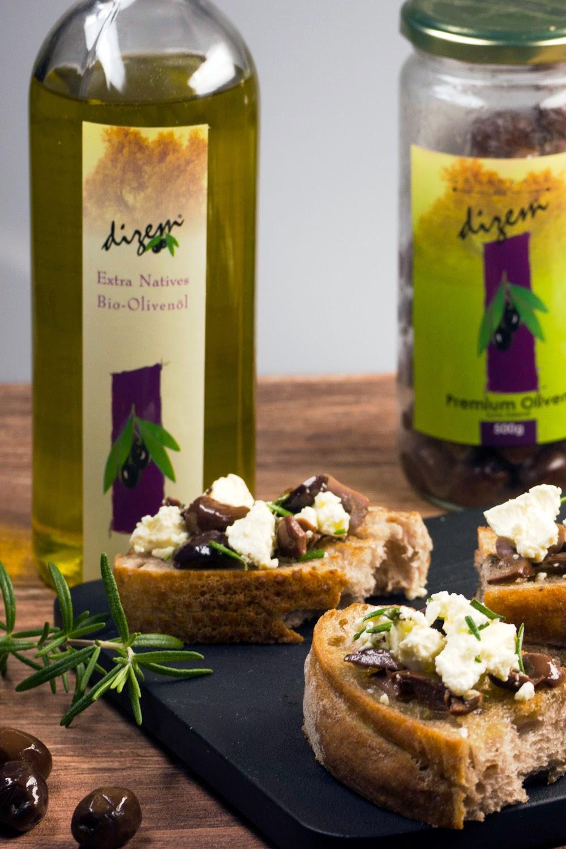 Granar.de - Feta-Oliven-Baguette mit Rosmarin